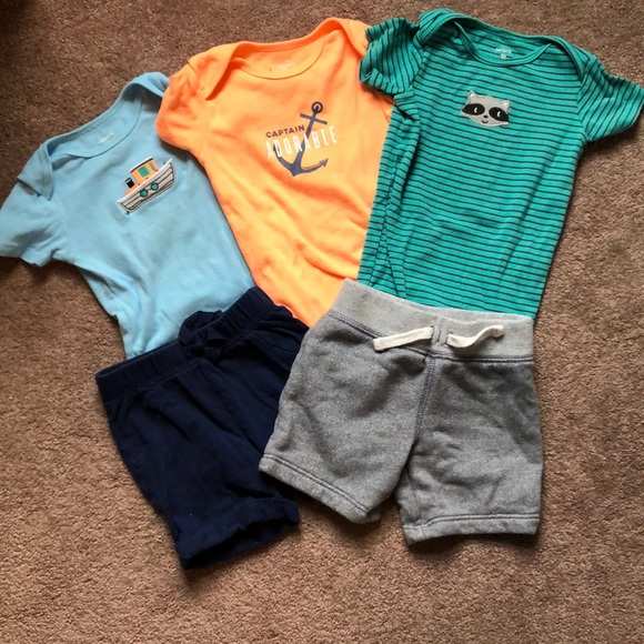 739de877 Carter's Matching Sets   Carters Short Sleeve Onesies And Shorts ...